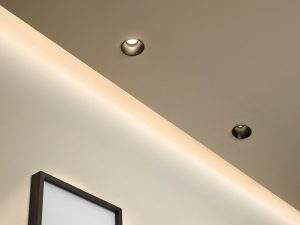LED spots and indirect lighting